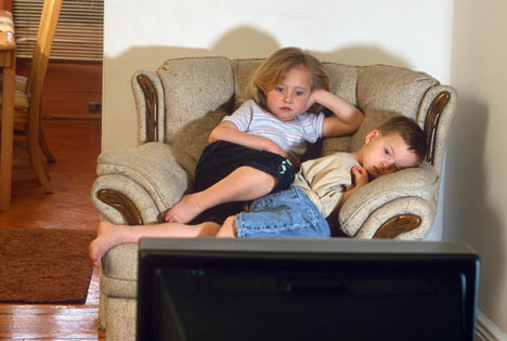 Kids Watching TV bad position